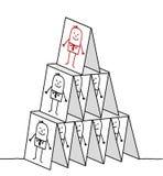 Liderança & pirâmide dos cartões Imagens de Stock Royalty Free