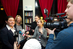 Lidia Feher avec Seyda Subasi-Gemici Image libre de droits