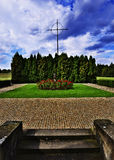 Lidice memorial. War memorial in Czech town of Lidice which was burned down by Nazis during the WWII Royalty Free Stock Image
