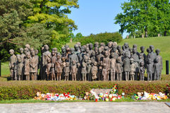 Lidice memorial. War memorial in Czech town of Lidice which was burned down by Nazis during the WWII Stock Photo