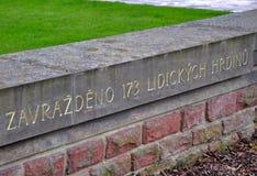 Lidice memorial Stock Photos