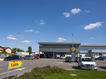 Lidl商店在布加勒斯特 免版税图库摄影
