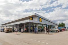 Lidl商店在Porec,克罗地亚 免版税图库摄影