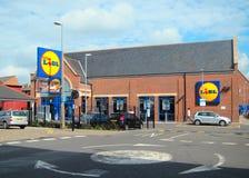 Lidl超级市场或大型商场 库存照片