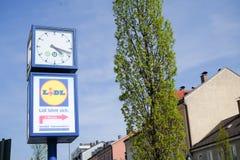 Lidl clock Stock Photo