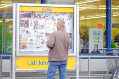 Lidl customer Royalty Free Stock Image