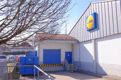 Lidl delivery area Stock Photo