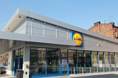 Lidl discount market Stock Photo