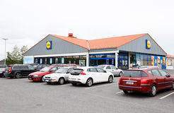Lidl grocery store Stock Photo