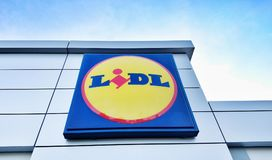 Lidl logo sign Royalty Free Stock Images