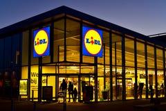 Lidl rabata supermarket obrazy stock
