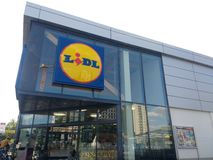Lidl-Shop lizenzfreie stockbilder