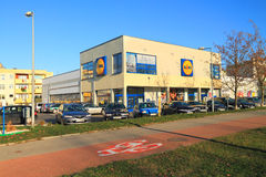 Lidl shop in Elblag Stock Photo