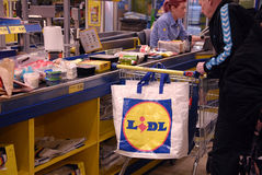 LIDL SHOPPERS Royalty Free Stock Photography