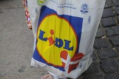 LIDL SHOPPERW LIDL torba na zakupy Obrazy Stock