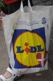 LIDL SHOPPERW LIDL torba na zakupy Fotografia Stock
