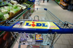 Lidl shopping cart Stock Photos