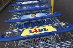 Lidl shopping carts Stock Photo