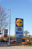 Lidl sign Stock Photography