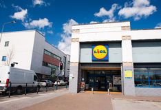Lidl Store in Manchester, UK Stock Photos