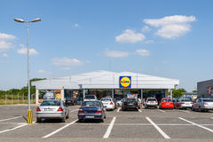 Lidl Store In Romania Stock Photography