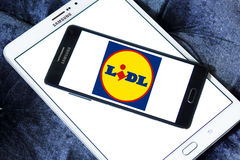 Lidl stores logo Royalty Free Stock Photo