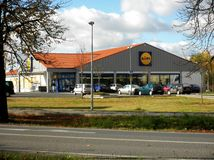 Lidl supermarket Royalty Free Stock Photography