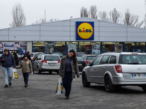 Lidl supermarket Royalty Free Stock Image