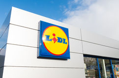 Lidl supermarket logo Royalty Free Stock Photos