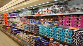 LIDL-supermarktbinnenland Royalty-vrije Stock Foto
