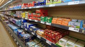LIDL-supermarktbinnenland Royalty-vrije Stock Foto's