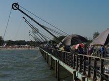 Lido二沃拉诺码头 免版税库存图片