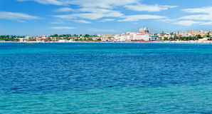 The Lido of Alghero. Seen from the sea Royalty Free Stock Photo