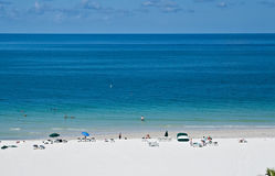 Lido Beach, Sarasota, Florida. View of Lido Beach, Sarasota, Florida Stock Photo