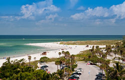 Lido Beach in Sarasota, Florida. On Siesta Key Stock Photography