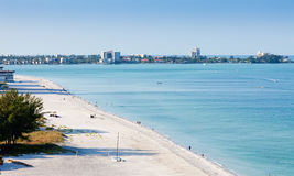 Lido Beach in Siesta Key. Sarasota, Florida Stock Images