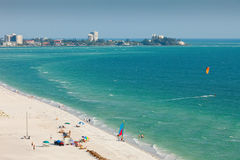 Lido Beach in Siesta Key. Sarasota, Florida Royalty Free Stock Image