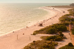 Lido Beach in Siesta Key. Sarasota, Florida Royalty Free Stock Images