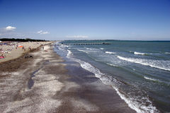 Lido beach to the north. Island in front off venice, italy Royalty Free Stock Photography