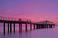 Lido of Camaiore. 's pier at sunset , italy Stock Photos