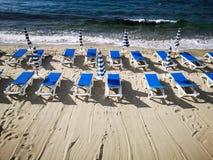 Lido da praia pronto para o verão Imagens de Stock Royalty Free