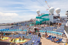 Lido Deck on the Carnival Freedom Stock Images