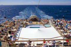 Lido deck on cruise ship Stock Photo