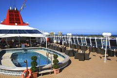 Lido deck of a cruise ship Royalty Free Stock Photo