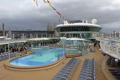 Lido deck in the start of the cruise, Sydney, Australia Stock Photos