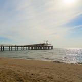 Lido di camaiore pier. On the beach royalty free stock photo