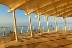 Lido di camaiore pier view. Amazing lido di camaiore pier view royalty free stock image
