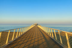 Lido di camaiore pier view. Amazing lido di camaiore pier view royalty free stock photography