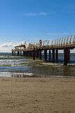 Lido di camaiore pier. View on a sunny day royalty free stock photo