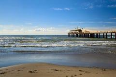 Lido di camaiore pier. View on a sunny day stock photo